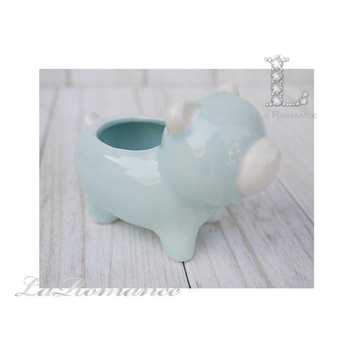 【義大利 EDG 特惠系列】 小熊陶瓷迷你花器 (藍) / 盆栽 / 庭院 / 童趣