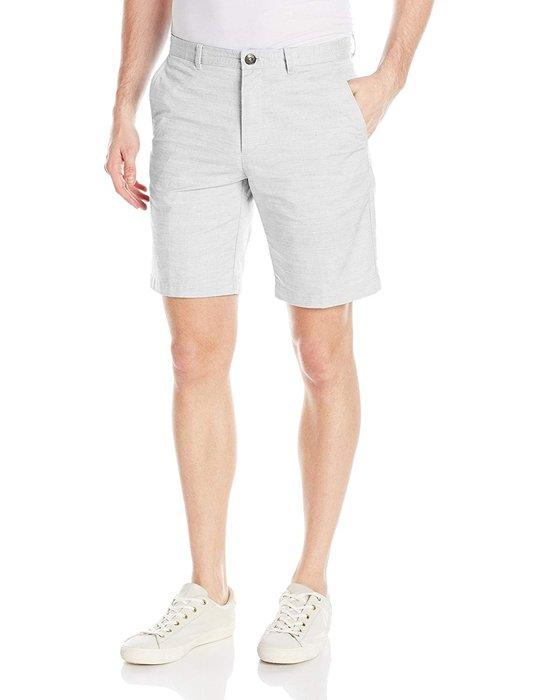 美國百分百【全新真品】Calvin Klein 短褲 CK 休閒褲 褲子 五分褲 工作褲 淺灰 大尺碼 36腰 J549