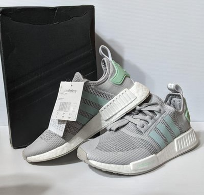 『BAN'S SHOP』Adidas 經典款 休閒鞋 NMD R1 灰 襪套 BOOST 運動 慢跑 英國購回 全新