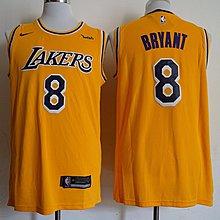 保真NBA洛杉磯湖人 Kobe Bryan科比布萊恩#8號 黃色