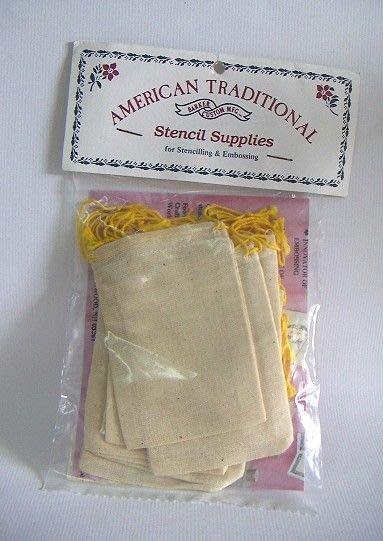 陽光一品DIY卡片印章專賣店~~ 材料包--棉布束口袋--##SB-0##~~美國製絕版品