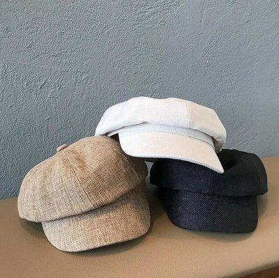 莎芭 韓版秋季新款八角帽 畫家帽 貝雷帽 複古文藝風帽子