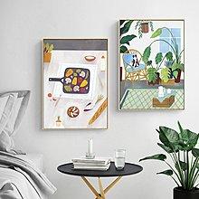 北歐裝飾畫芯打印定制客廳餐廳臥室現代簡約掛畫北歐餐廳(3款可選)