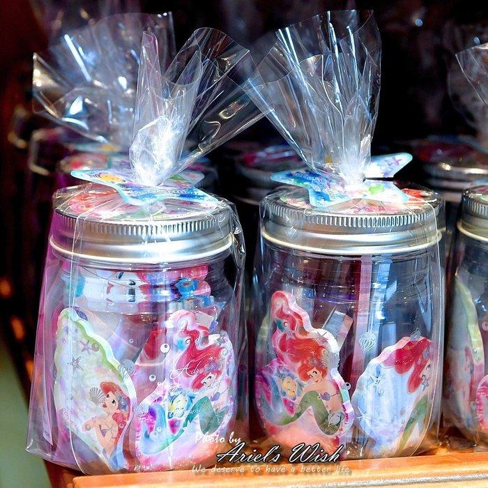 Ariel's Wish日本東京Disney迪士尼愛麗兒小美人魚Ariel粉紅色夢幻海底泡泡彩色便條紙圓收納罐九款-現貨