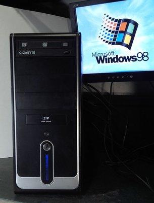 【窮人電腦】跑Win98系統!自組技嘉Win98工業主機出售!雙北桃園可親送外縣可寄!