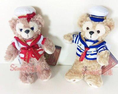 《東京家族》日本東京海洋迪士尼樂園限定 達菲熊/雪莉玫 duffy 水手服 海兵 絨毛吊飾 站姿 2選1 日本帶回
