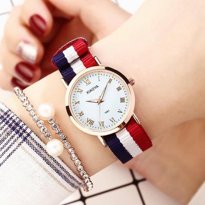 半島鐵盒 韓版簡約手錶女夜光中學生情侶手對錶時尚潮流2019新款石英男女錶
