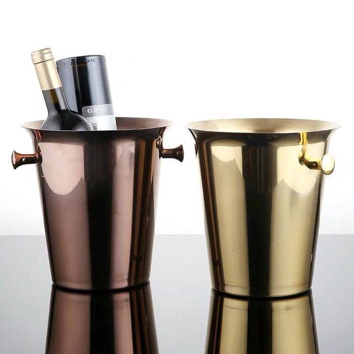 現貨 歐式 質感香檳桶 冰桶 不鏽鋼 金屬冰桶
