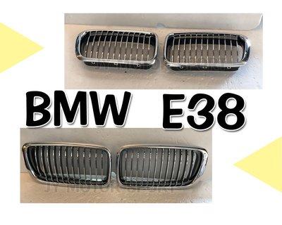 》傑暘國際車身部品《全新 BMW 寶馬 E38 電電黑 水箱罩 鼻頭 1組1000