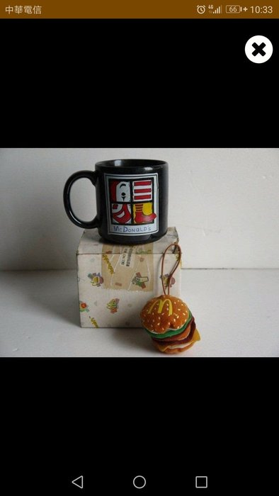 麥物堂珍藏生活用品~全新『麥當勞拼圖案馬克杯』*絕版逸品