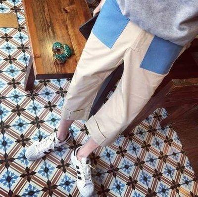 高品質 民族 風格 寬褲設計感 寬腿褲 瘦腿褲 寬褲