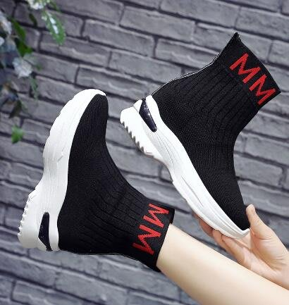 莎芭 馬丁靴  襪子彈力靴 厚底松糕鞋 內增高瘦瘦靴 短靴