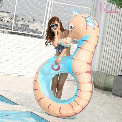 ☆[Hankaro]☆夏日戲水創意海馬造型充氣泳圈浮排