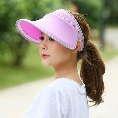 糖衣子輕鬆購【DZ0087】戶外防曬紫外線可折疊空頂帽伸縮帽遮陽帽