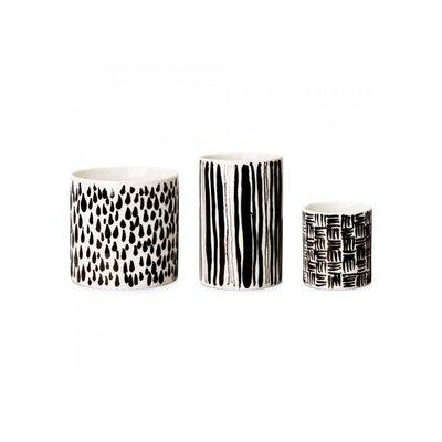 夏丫瑞典 Design House Stockholm Deco Vase 現代抽象派黑白花瓶