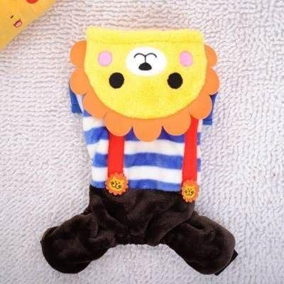 寵物衣 秋冬狗狗衣服-可愛俏皮獅子吊帶寵物用品2色73ih39[獨家進口][米蘭精品]