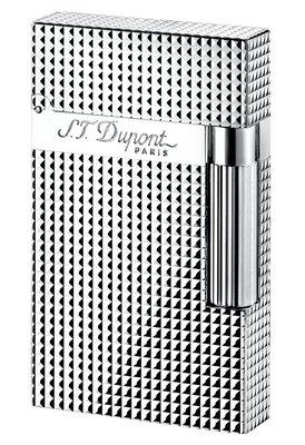 S.T.Dupont打火機 Ligne 2- 銀 鑽格紋