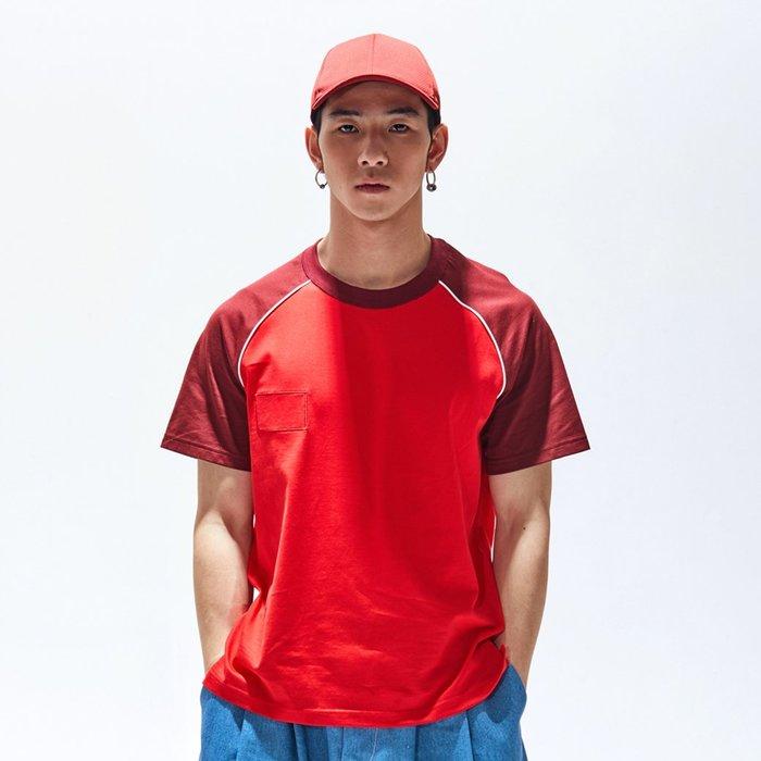 【OTOKO Men's Boutique】固制:長絨棉插肩短袖/紅色(台灣獨家代理)