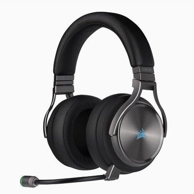 海盜船 VIRTUOSO RGB WIRELESS SE無線耳機/無線/杜比7.1/RGB/記憶耳墊/鋁質頭帶
