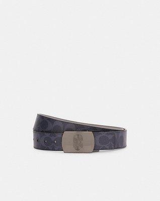 coach Plaque Buckle Cut-To-Size Reversible Belt, 38mm