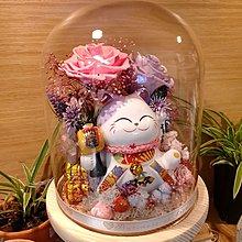 發光招財貓保鮮花瓶