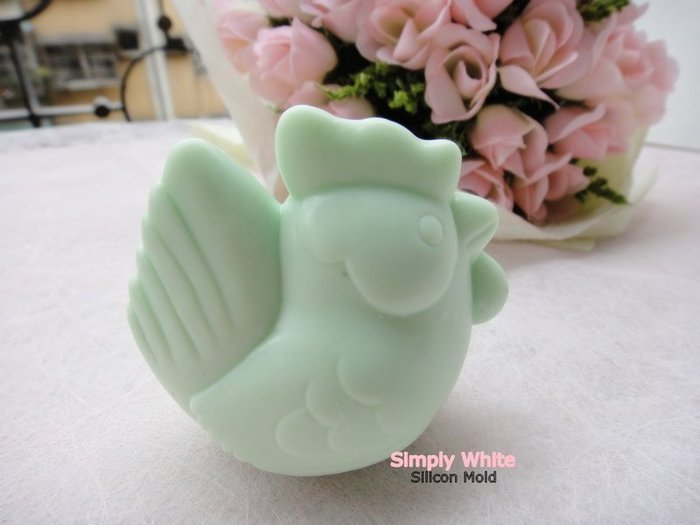 《魔法泡泡Simplywhite》手工皂模/矽膠模/土司模/香皂模/吐司模- A10060 開心動物園-公雞