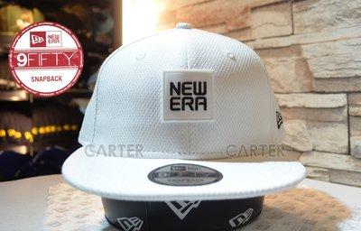 New Era Branded Patch Logo 9Fifty Snapback 白色NE橡皮部章標誌後扣帽