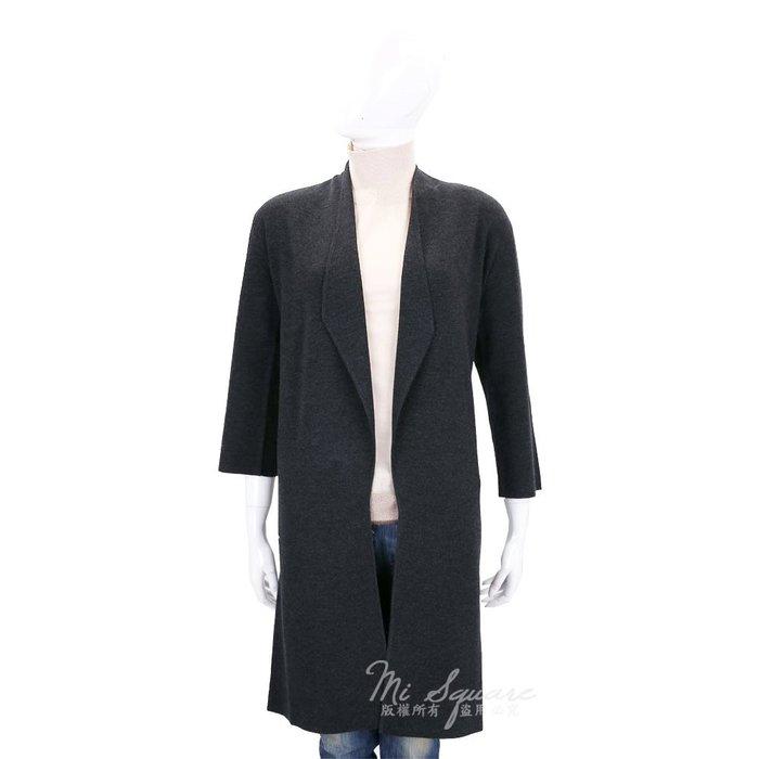 米蘭廣場 ALLUDE 深灰色開襟長版七分袖針織外套(100%WOOL) 1710091-11