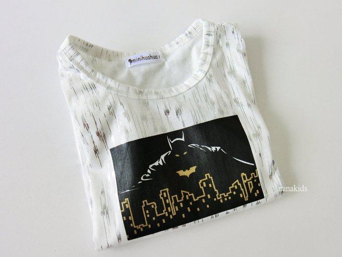 出清夏日款。男童裝。韓版BATMAN 竹節棉T恤 短袖T恤  (白色)現貨~nanakids娜娜童櫥