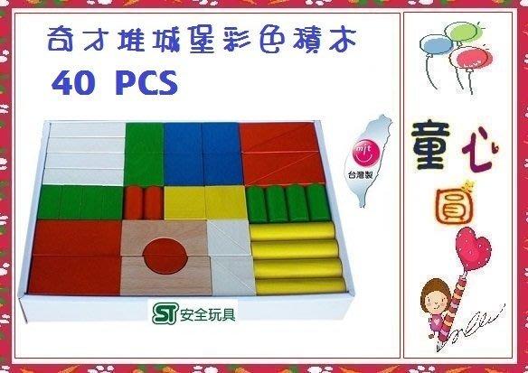 台灣製 奇才 堆城堡 彩色積木~3D立體建築師積木~ST安全玩具◎童心玩具1館◎