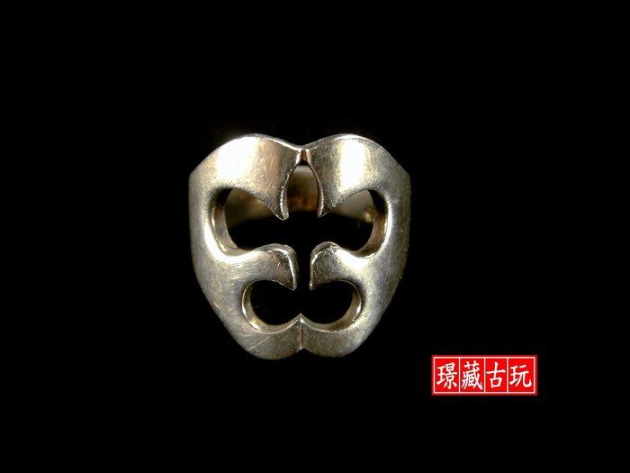 ﹣﹦≡|璟藏古玩|925純銀鏤空花卉銀戒(內徑17mm)∥(直購價,不設底價,只給第一標)∥≡﹦﹣