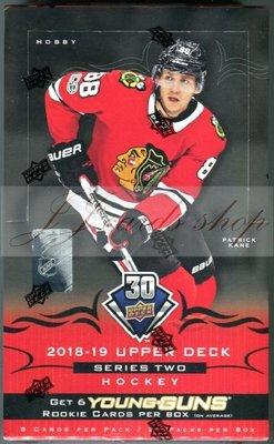 NHL 2018-19 Upper Deck Series 2 S2 Hockey 系列二 冰上曲棍球 冰球卡 卡盒