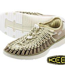 =CodE= KEEN UNEEK O2 SANDALS 編織彈性綁繩包後跟涼鞋(卡其) 1017938 戶外 拖鞋 男