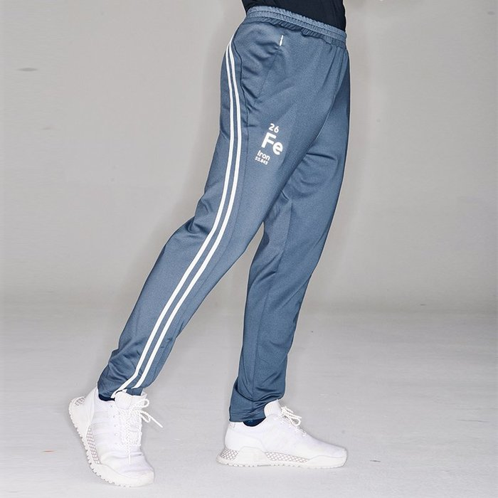 【OTOKO Men's Boutique】固制:復古雙線條運動長褲/灰色(台灣獨家代理)