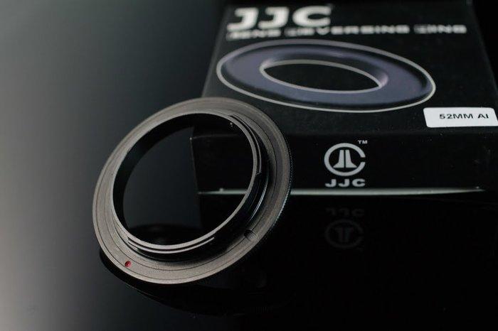 又敗家@JJC副廠鋁合金52mm鏡頭倒接環相容Nikon原廠BR-2A倒接環原廠倒接環52mm倒接環適Nikon機身F卡口即窮人微距鏡頭MACRO鏡MICRO鏡