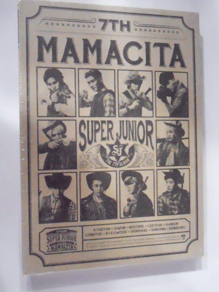 Super Junior--第七張專輯「MAMACITA」(台壓B版)**全新**CD
