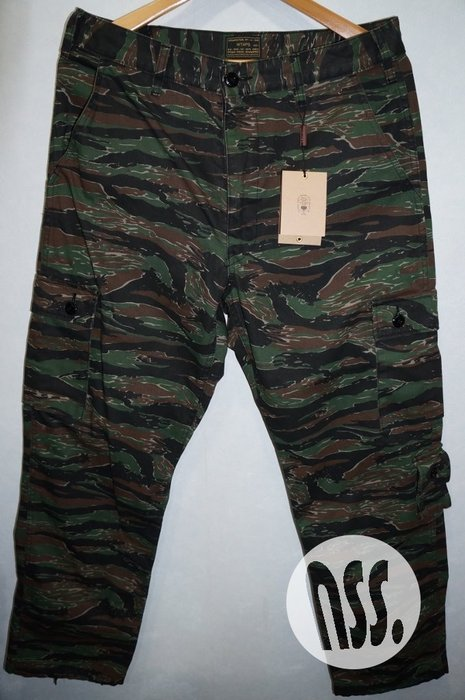 「NSS』WTAPS 17 JUNGLE STOCK 01 TROUSERS COTTON TWILL 迷彩工作褲S M