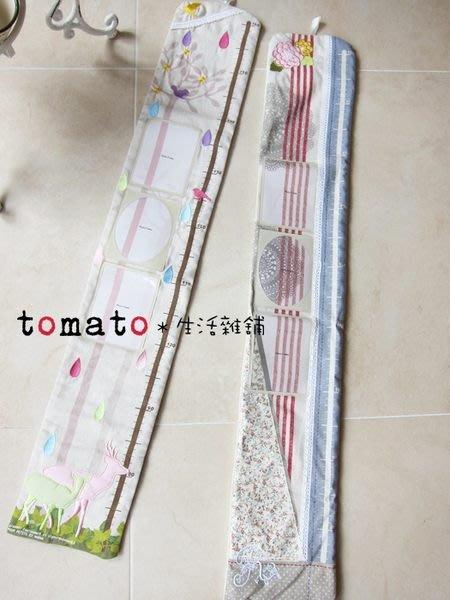 ˙TOMATO生活雜鋪˙日本進口雜貨兒童蕾絲/鹿樹圖騰照片收納可掛式身高尺(出清)