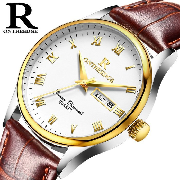 手錶超薄防水商務真皮錶帶石英男士腕錶學生男錶商
