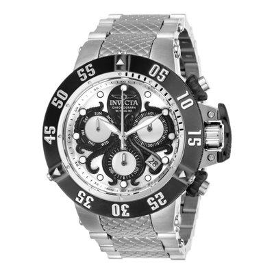 瑞士製 Invicta 特賣8/25截止!稀有款1.4折!Subaqua 50mm獨特章魚黑銀三眼手錶男錶潛水錶