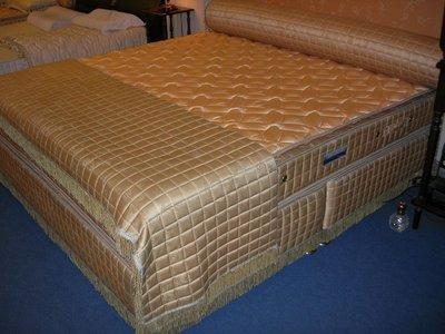 尊爵床墊~4線上下純棉護背獨立筒床墊特大6*7尺+掀床架安全裝置
