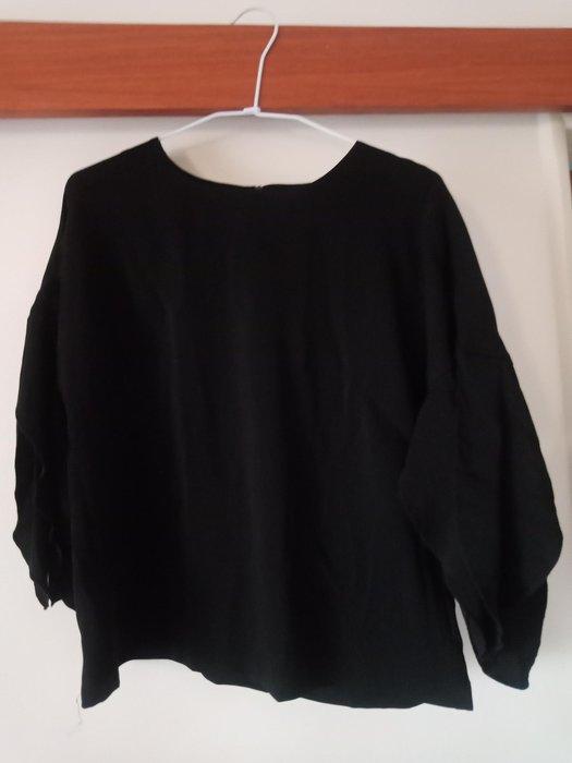 大出清-黑色 袖子穿起來七分袖活動自如 台灣專櫃