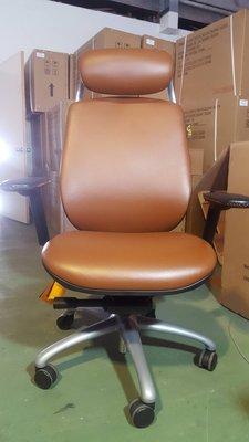 【鷹牌椅展示品特賣】牛皮椅特價6折-蘇珊娜二代(咖啡色)-限量1張-辦公椅/電腦椅-展示品庫存非二手