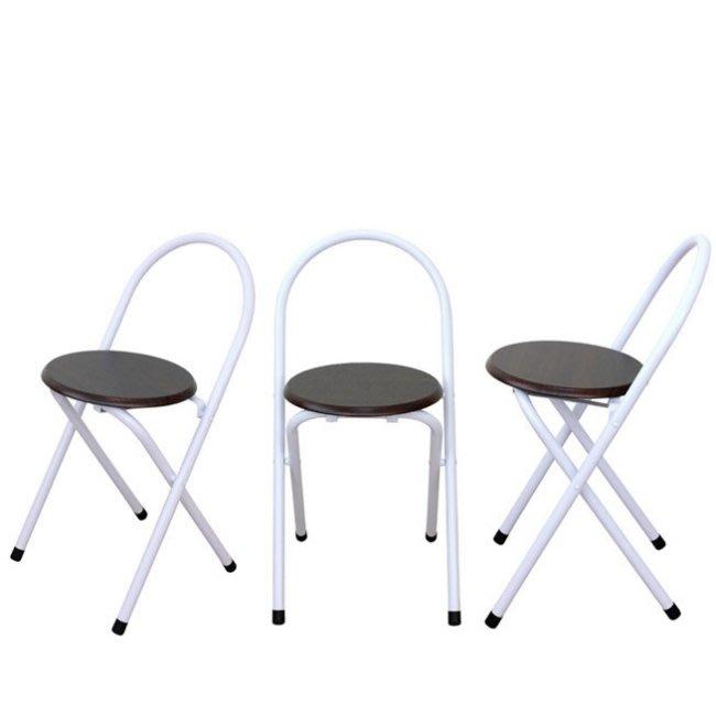 含發票-1入組【免工具全新品】室內外折疊椅-摺疊椅-休閒椅-穿鞋椅-化妝椅-洽談椅-工作椅-萬用椅XR081WF深胡桃木