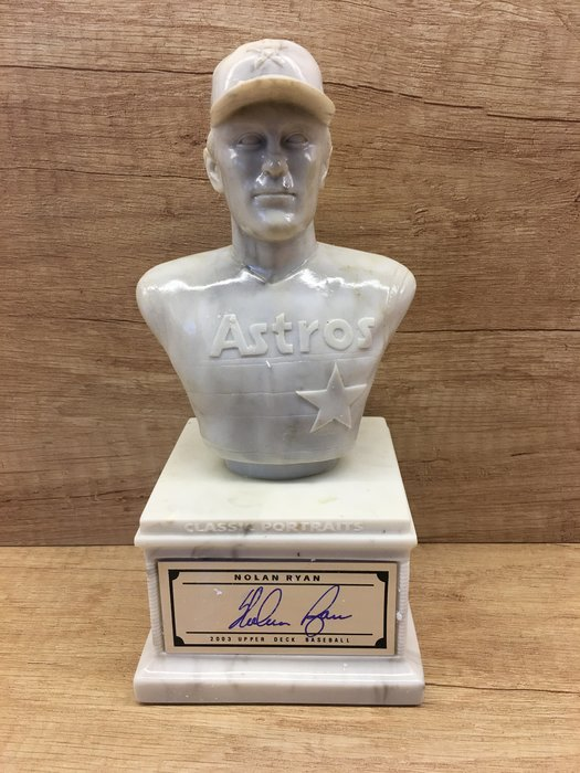 2003 Upper Deck CLASSIC PORTRAITS Nolan Ryan親筆簽名大理石雕像,附原盒免運費
