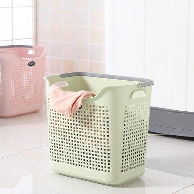 家用髒衣籃塑料洗衣籃手提籃浴室髒衣服收納筐收納藍髒衣簍RM