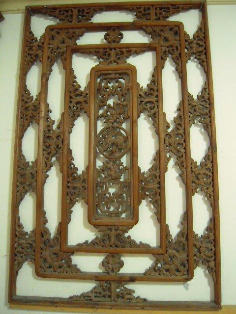 古董原木雕刻窗花(A)