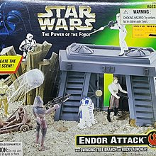 KENNER STAR WARS POTF ENDOR ATTACK SWINGING TREE BRANCH ROCK LAUNCHER 27859 PA#0