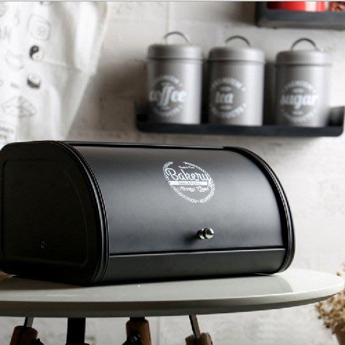 歐式前開式加厚鍍鋅翻蓋烘焙麵包箱 桌面鐵皮整理裝零食儲物收納盒_☆找好物FINDGOODS ☆
