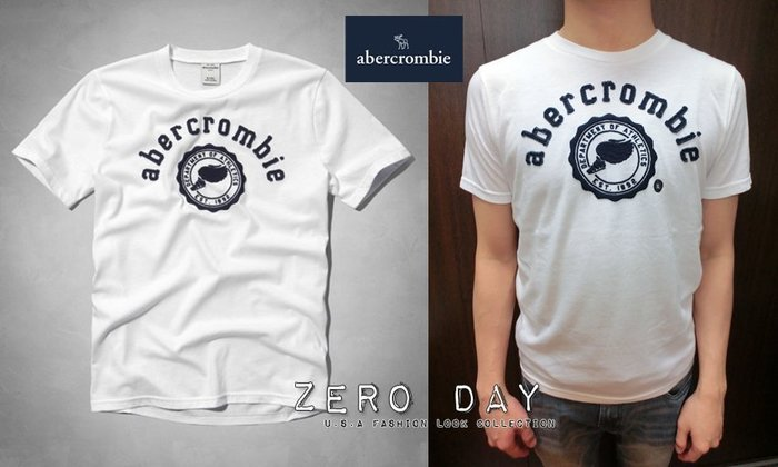 a&f abercrombie&fitch kids guys heritage logo graphic tee飛鞋T